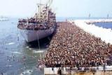 Au départ de la Libye : arrivage quotidien.