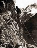 A. Charlet au rocher école de Gavarnie