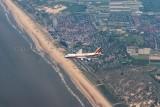 Kalitta Air 747-200 over the Dutch coast