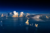 Thunderstorms over the Caribean