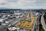 Seattle city, Boeing field, landing