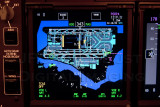 Navigation display with Airport Diagram of the 747-8