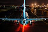 Air Caribbean 737-800 as seen from behind