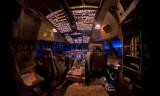 747-400 flightdeck, fisheye view