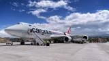 747-8 on the apron of Latacunga - Cotopaxi airport (Ecuador)