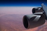 747-8 engines over the Sahara