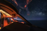 Night flight over the Pacific