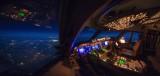Midnight cruise over Spain
