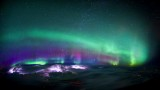 Northern Lights and thunderstorms over Canada