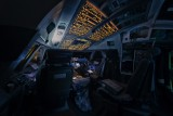 Under certain light conditions at night, the flightdeck of the 747-8 looks like that of a space ship. Warp speed please!