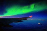 Northern Lights with the 747 wing