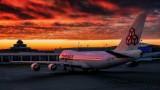 Cargolux 747-400 under a beautiful sky