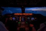 747 cockpit view
