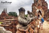 Decapitated buddhas in Wat Chai Wattanaram