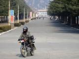 Motorcyclist - Main Boulevard in Hyangsan