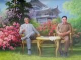 Mural of Kim Il-Sung and Kim Jong-Il - Chongchon Hotel (2).jpg