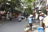 In front of the Aranya Hotel where we stayed in Hanoi, Vietnam
