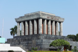 Mausoleum of Ho Chi Minh in Hanoi, Vietnam. People in Vietnam call him, Uncle  Ho.