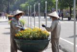 City gardeners in Hanoi, Vietnam.