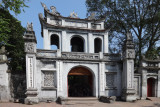 Entrance to the Temple of Lecture built in the11th century c.e. under the Ly Dynasty - in Hanoi, Vietnam.