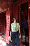 Judy in the Temple of Lecture - Hanoi, Vietnma