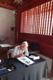 Calligrapher in the Temple of Lecture - Hanoi, Vietnam