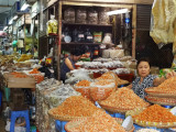 Dried seafood for sale in the main market in Hanoi, Vietnam