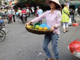 Worker at the main market - Hanoi, Vietnam
