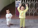 Children near the main market - Hanoi, Vietnam