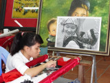 Artisan at a sheltered workshop employing disabled citizens - started after the Vietnam war with the U.S.