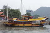 An attractive small boat in Ha Long Bay - Vietnam