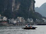 Scene while leaving port aboard the Treasure Junk in Ha Long Bay, Vietnam