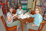 Non-shoppers in our group having a tea party provided by the Thang Loi Company, Hoi An Vietnam