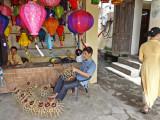 Creating silk lanterns at the Thang Loi Company, Hoi An, Vietnam