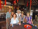 A tea party for our group in the Tan Ky House called the Ancient House by our guide and other locals - Hoi An,Vietnam