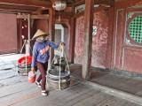 A woman near the Japanese Bridge - Old Town, Hoi An, Vietnam