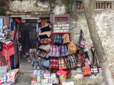 Colorful purses for sale in front of a shop - Old Town, Hoi An, Vietnam