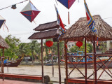 Colorful silk street lanterns near the Thu Bon River - Old Town, Hoi An, Vietnam