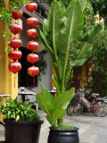 Silk lanterns in front of a shop - Hoi An, Vietnam