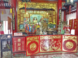 Chinese (Taoist) altar and temple in the Chinese Meeting Hall - Hoi An, Vietnam