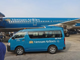 We flew on Vietnam Airlines from Hanoi to Danang - later in the trip we flew on Vietnam Airlines from Danang to Ho Chi Minh City