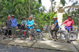 Our group bike-riding on an island after arriving there by boat -  near My Tho in the Mekong Delta, Vietnam
