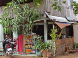 Our first look at a Cambodian village - near the Customs Office - Cambodian/Vietnamese border