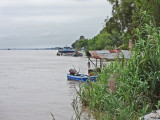 In Cambodia while traveling by boat from Chau Doc, Vietnam to Phnom Penh, Cambodia