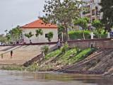 A park-like area near the boat landing dock - Phnom Penh, Cambodia