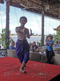 A traditional apsara dancer entertained us while we ate lunch in Phnom Penh, Cambodia