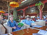 Lunch soon after arriving in Phnom Penh, Cambodia - we were hungry after our long boat ride from Chou Doc, Vietnam