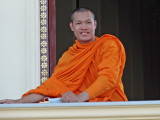 A monk in the Royal Palace Complex - Phnom Penh, Cambodia