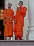 Monks in the Royal Palace Complex - Phnom Penh, Cambodia