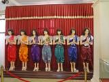Royal costumes - exhibit at the Royal Palace Complex - Phnom Penh, Cambodia